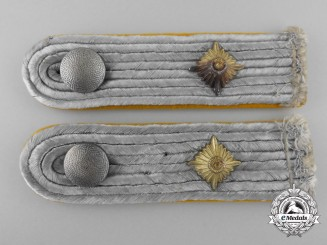 A Set of Army Oberleutnant Shoulder Boards; Signals