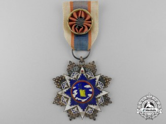 A Chinese Order of the Resplendent Banner; Officer's 6th Class