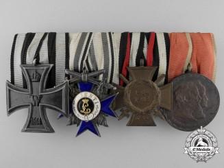 An First War Bavarian Military Merit Medal Bar; 4th Class
