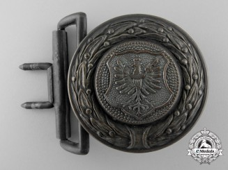 A Lower Silesia (Nieder-Schleisen) Fire Defence Service Officer's Belt Buckle