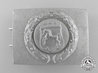 Germany, Civil. A Hannover Fire Defence Service Enlisted Man's Belt Buckle