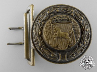 A Third Reich Hannover Fire Defence Service Officer's Belt Buckle