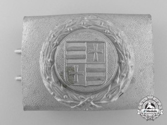 A Third Reich Oldenburg Fire Defence Service Enlisted Man's Belt Buckle