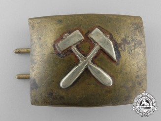A Third Reich Period Miner's Belt Buckle; Reduced Size & Published Example