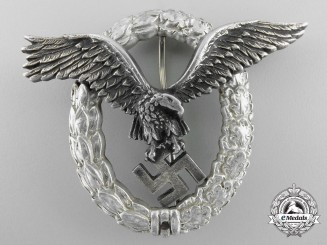 An Early Aluminum Luftwaffe Pilot's Badge