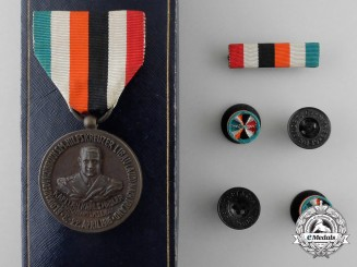 A Scarce Captain Karl Spindler of the Blockade Runner Libau (Aud) 1916-1931 Medal by Godet