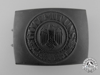 A German Army (Heer) Enlisted Man's Belt Buckle by Josef Felix Söhne Gablonz