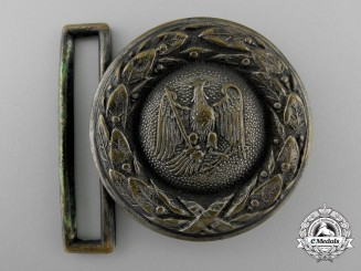 A Third Reich Prussian State Forestry Service Officer's Belt Buckle; Published Example