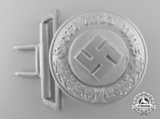 A German Police Officer's Belt Buckle; Marked & Published Example