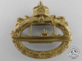 A First War German U-Boot Badge by Walter Schott