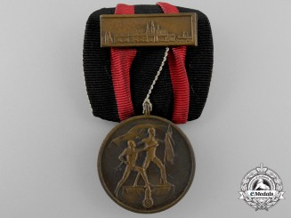 An October 1st 1938 Commemorative Medal with Prague Clasp