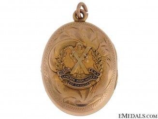 Queen's Own Cameron Highlanders of Canada Locket