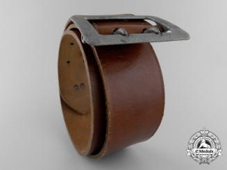A German Army Double Open Claw Buckle with Belt