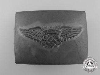 An Enlisted Man's RLB/Luftschutz Belt Buckle; 2nd Pattern