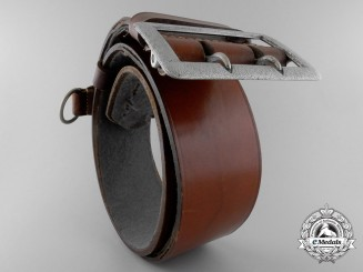 A Luftwaffe Belt with Double Open Claw Buckle by Overhoff & Cie