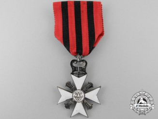 A Belgian Civil Decoration Cross; 2nd Class