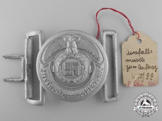 A Mint SS Officer's Buckle by RZM SS OLC 36/43 with Tag; Published Example