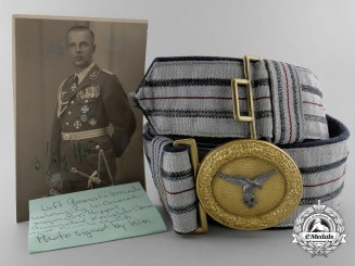 A Luftwaffe General's Brocade Belt & Buckle belonging to KC Winner von Hippel