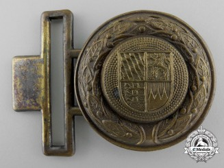 A Bavaria (Bayern) Fire Defence Service Officer's Belt Buckle; Published Example