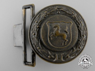 A Third Reich Westfalen Fire Defence Service Officer's Belt Buckle