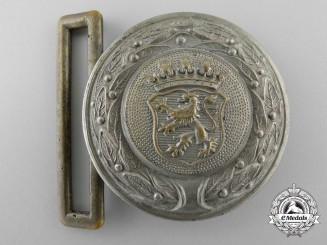 A Third Reich Free State of Hesse Fire Defence Service Officer's Belt Buckle