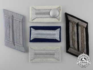 Five Third Reich Period Officer's Collar Tabs