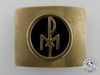 A Weimar Republic Christian Belt Buckle