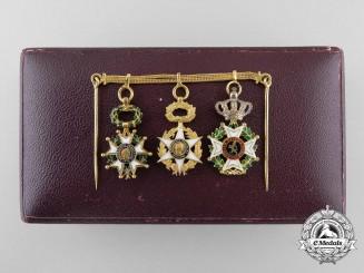 France, Republic. A Gold Miniature Award Group, by Fayolle Pouteau, Paris, c.1870