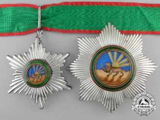 An Iranian Order of Homayoun; 2nd Class Set