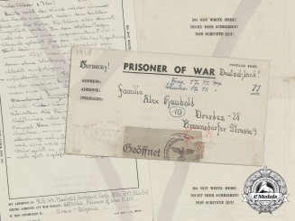 A Prisoner of War Letter from a German POW in Algeria 1944