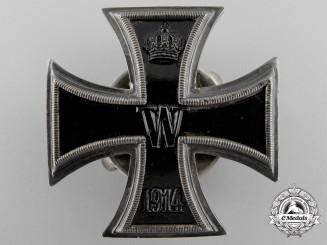 German, Imperial. An Iron Cross First Class 1914; Screwback Version