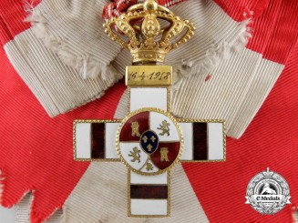 A Spanish Military Merit Order; White Division & Dated April 16th 1918