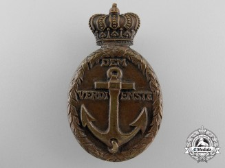 A First War German Naval Merit Badge for Services on Danube River