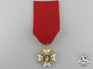 A French Order of St. Louis; Reduced Size Knight's Cross in Gold 1814-19
