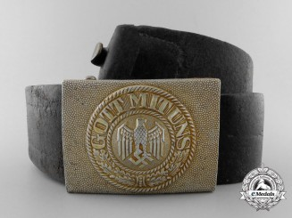 A Kriegsmarine Belt & Buckle by Overhoff & Co.