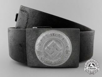 A German Police EM Belt with Buckle