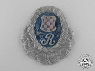 A Second War Period Croatian Police Guardsmen Badge