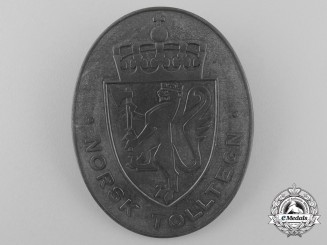 Norway. A Quisling Issue Customs Shield, c.1940