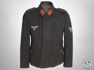 An Obergefrieter (Leading Aircraftman) Luftwaffe Tunic; Dutch Volunteer