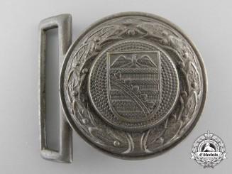 Germany. A Saxony Fire Defence Service Officer's Belt Buckle
