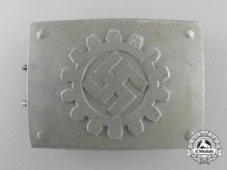 A German Labour Front Stosstrupp of the Werkschar Belt Buckle by Richard Sieper & Söhne