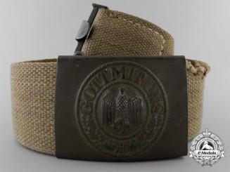 An Army Afrika Korps Belt with Buckle 1941