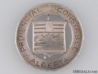 Rare Alberta Provincial Constable Badge