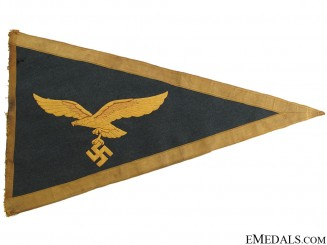Rare Luftwaffe General's Car Pennant