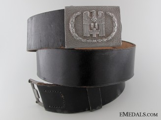 Red Cross Enlisted Belt with Buckle