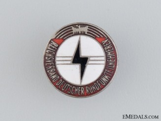 Reich Association of German Radio Listeners (RDR) Membership Badge