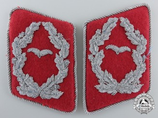 A Set of Scarce Luftwaffe Justice Major's Collar Tabs