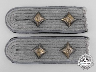A Pair SS-Hauptsturmführer (Transport Units) Shoulder Boards