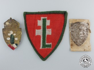 A Group of Hungarian Levente Organization Insignia