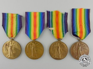 Four British First War Victory Medals